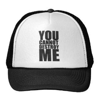 You cannot destroy me casquettes