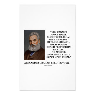 You Cannot Force Ideas Slow Growth Bell Quote Customized Stationery