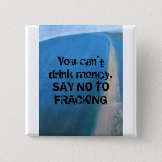 You can't drink money 15 cm square badge