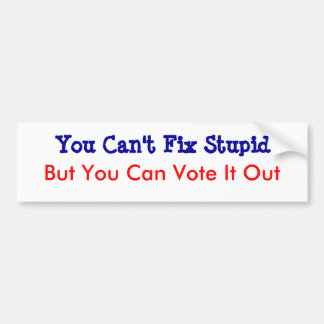 You Can't Fix Stupid Bumper Sticker