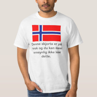 You Can't Read This Norwegian T-shirt