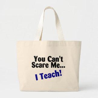 You Cant Scare Me I Teach Black and Blue Jumbo Tote Bag