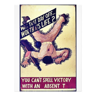 You Can't Spell Victory With An Absent T 21.5 Cm X 28 Cm Flyer