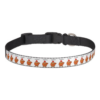 You Chicken? Brown Hen Rooster Cartoon Pet Collar