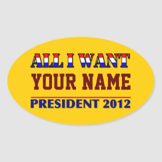 You Choose The President - 2012 Elections Oval Sticker