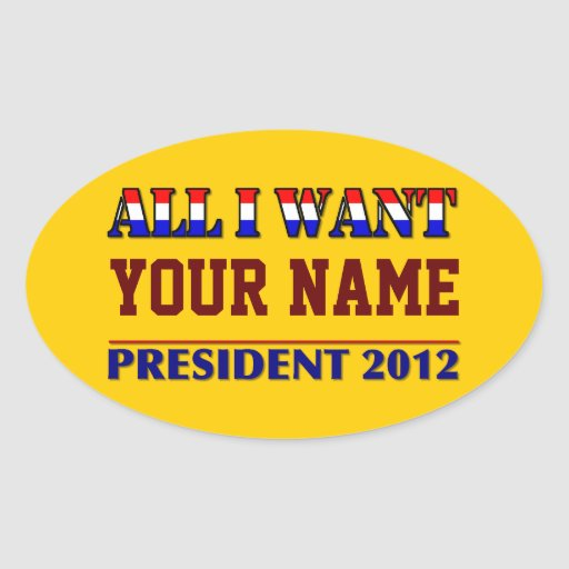 You Choose The President - 2012 Elections Sticker