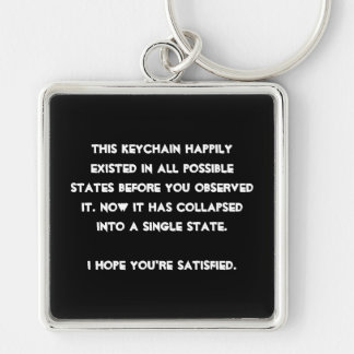 You collapsed it! Quantum Physics Humor Key Ring