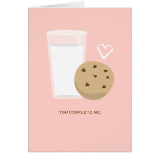 You Complete Me Milk & Cookie Silly Love Card