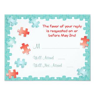 You complete me puzzle Wedding RSVP Cards 11 Cm X 14 Cm Invitation Card
