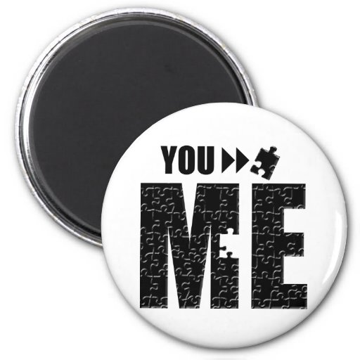 You Complete Me, Romantic Apparel and Gifts. Fridge Magnet
