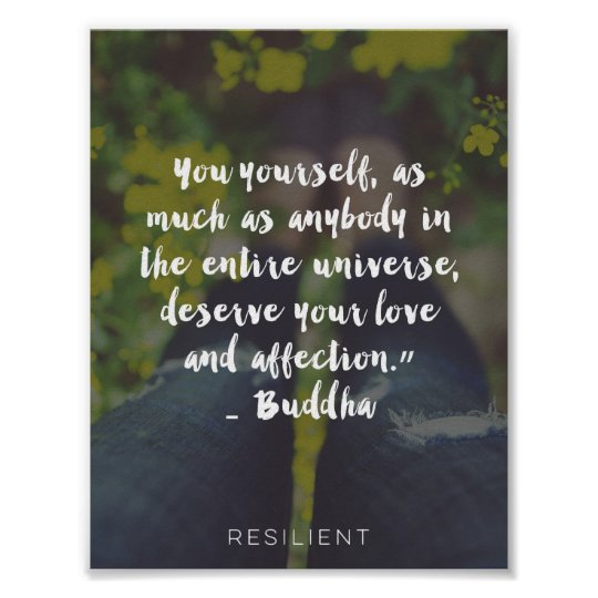 """""""You Deserve Love and Affection"""" Cursive Quote Poster"""