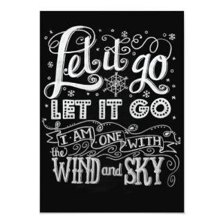 YOU Design! Let it Go Artwork Frozen Invitation