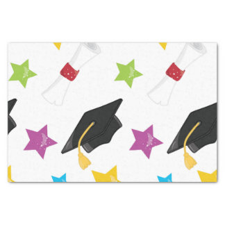 You did it graduation cap and diploma tissue paper