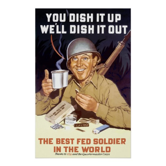 You Dish It Up, We'll Dish It Out Poster