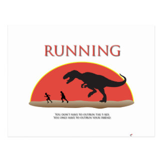 You Don't Have to Outrun the T-Rex Postcards