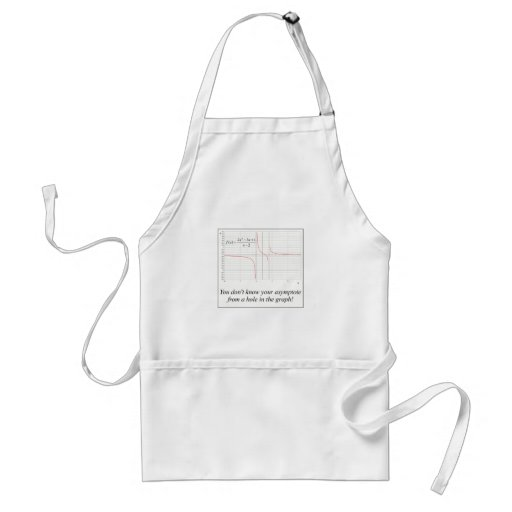 You don't know your asymptote... aprons