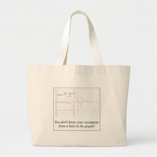 You don't know your asymptote... large tote bag