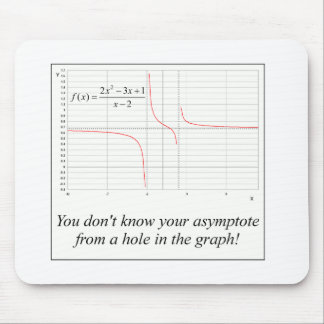 You don't know your asymptote... mouse mat