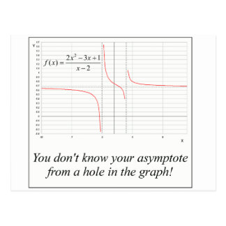 You don't know your asymptote... postcard