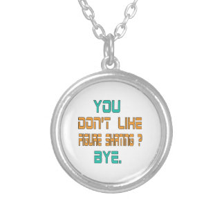 You don't like Figure Skating ? Round Pendant Necklace