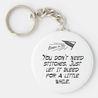 You don't need stitches basic round button key ring
