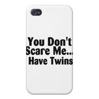 You Dont Scare Me I Have Twins Black Text iPhone 4/4S Case