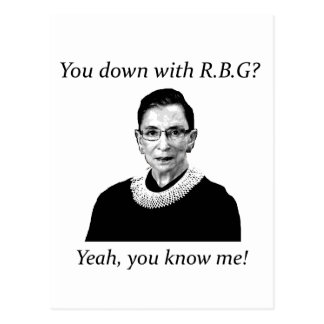 You down with RBG? Postcard