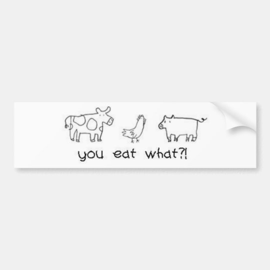you eat what?! bumper sticker