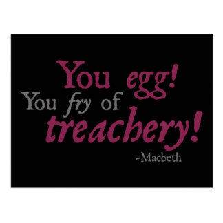 You Egg!  You Fry of Treachery! Postcard