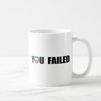 YOU FAILED BASIC WHITE MUG