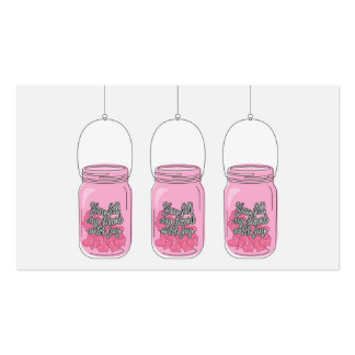 """You Fill My Heart with Joy."" Mason Jar Pack Of Standard Business Cards"
