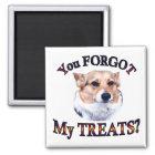 You FORGOT my treats Magnet