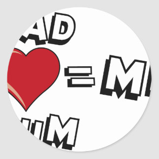 You give and Mum Round Sticker