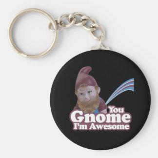 you Gnome I am Awesome Keychain
