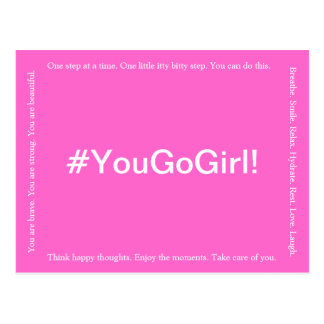 YOU GO GIRL Breast Cancer Postcard