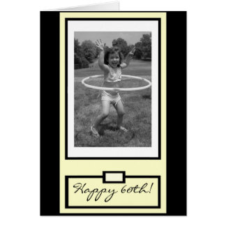 """You go, girl!"" Happy 60th Birthday Card"
