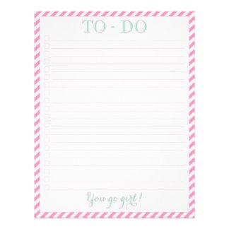 You Go Girl - To-Do List Flyer Design