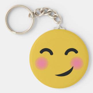 You got me blushing emoji key ring