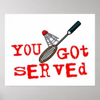 You Got Served Badminton Poster