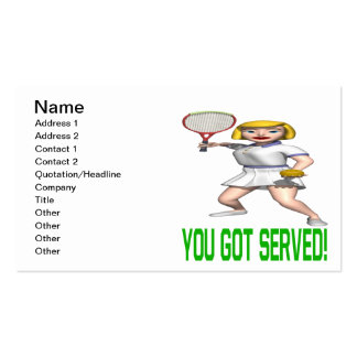 You Got Served Business Card Template