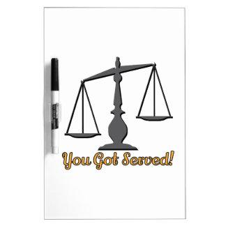 You Got Served! Dry-Erase Board