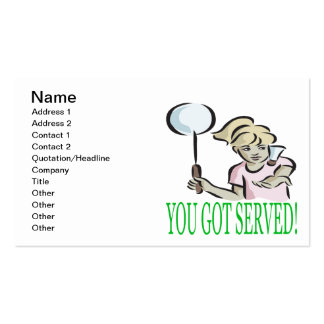 You Got Served Pack Of Standard Business Cards