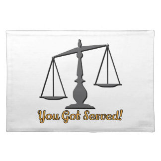 You Got Served! Cloth Placemat