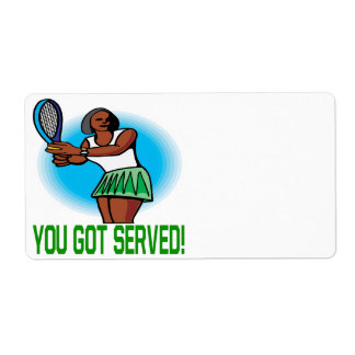 You Got Served Shipping Label