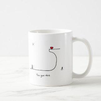 """You got this."" by HeartsAndAll Basic White Mug"