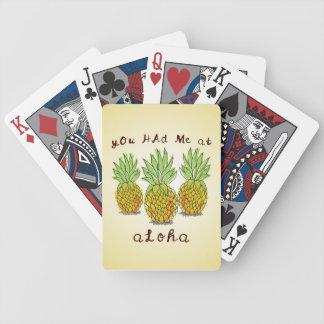 You Had Me at Aloha - Pineapples Playing Cards