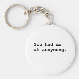 You Had Me at Annyeong Korean K-POP (Couple) Tee Key Ring