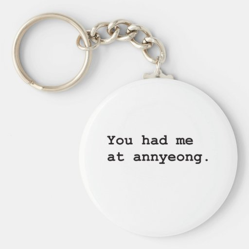 You Had Me at Annyeong Korean K-POP (Couple) Tee Keychains