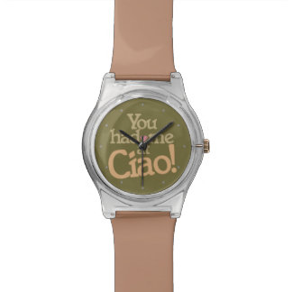 You Had Me at Ciao! custom color watches