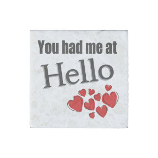 You had me at Hello English Stone Magnet